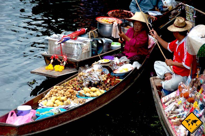 Thailand oder Bali schwimmende Märkte