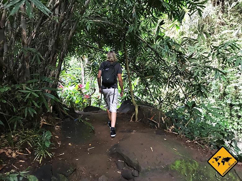 Tibumana Wasserfall Weg