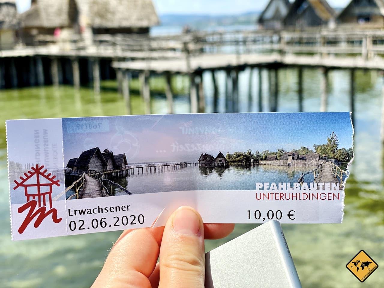 Ticket Eintritt Pfahlbauten Museum Unteruhldingen