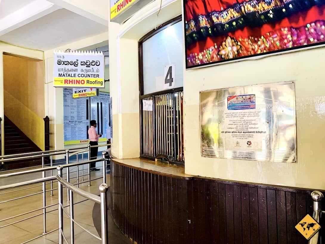 Ticketschalter Bahnhof Kandy Sri Lanka