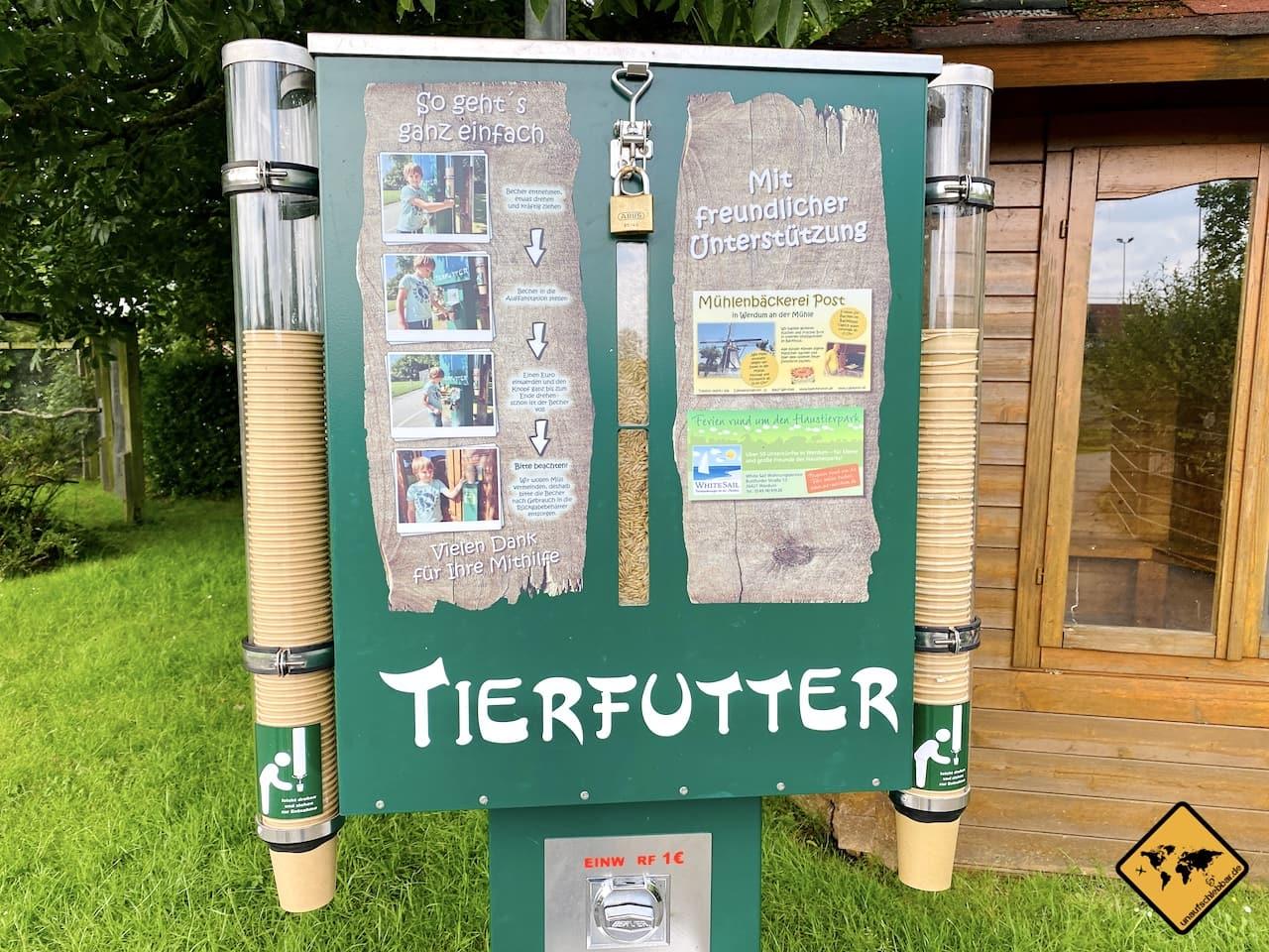 Tierfutter Automat Zoo Werdum