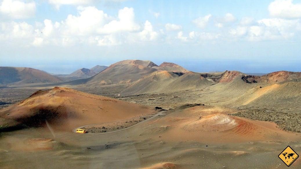 Das Herzstück des Nationalparks kannst du nur bei einer Timanfaya Bustour entdecken