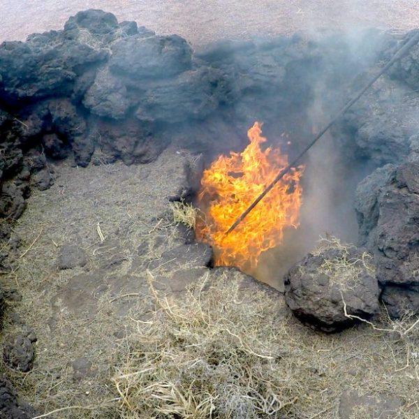 Unterhalb der Erde ist es so heiß, dass hier sogar ein Feuer entstehen kann