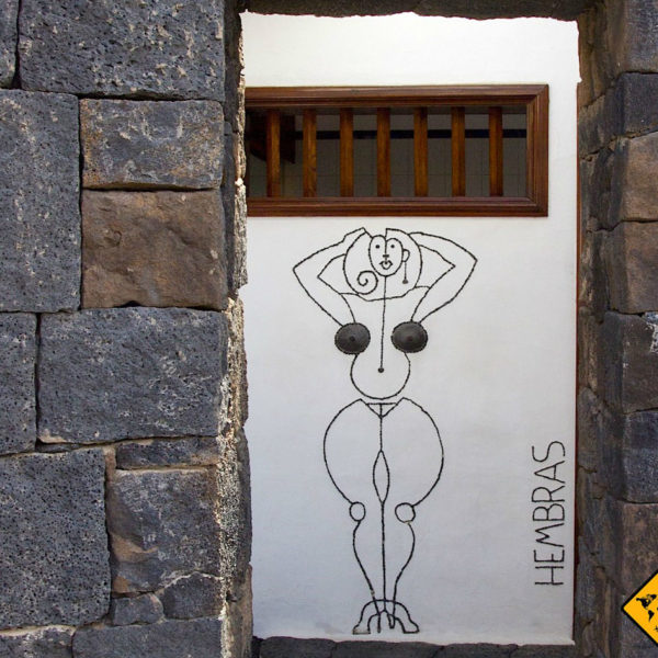 Auch die Toiletten im Timanfaya Nationalpark sind künstlerisch gestaltet