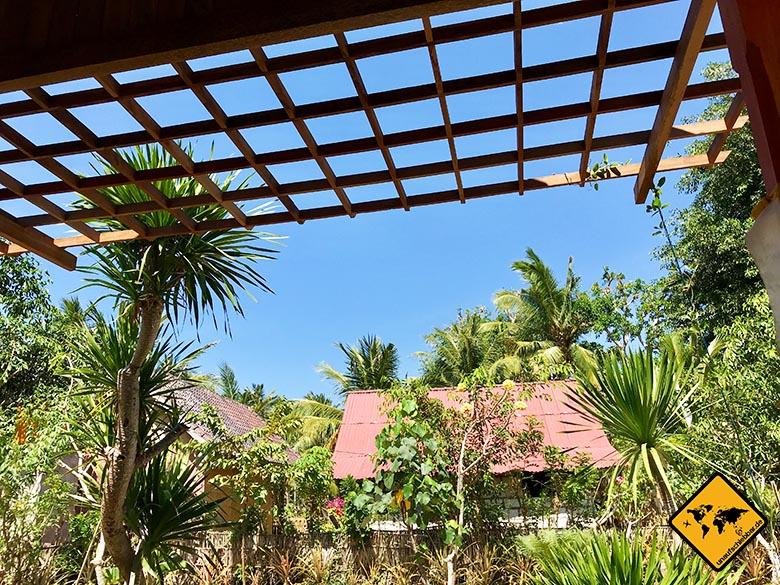 Timbool Bungalow Nusa Penida Ausblick Terrasse
