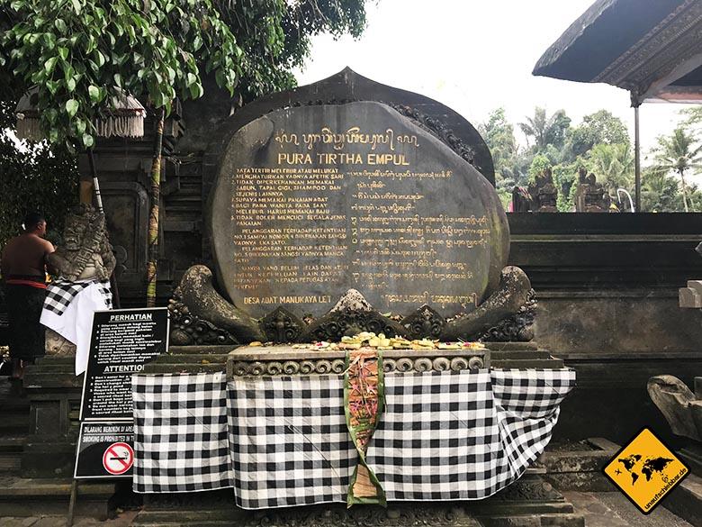 Tirta Empul Temple Eingang