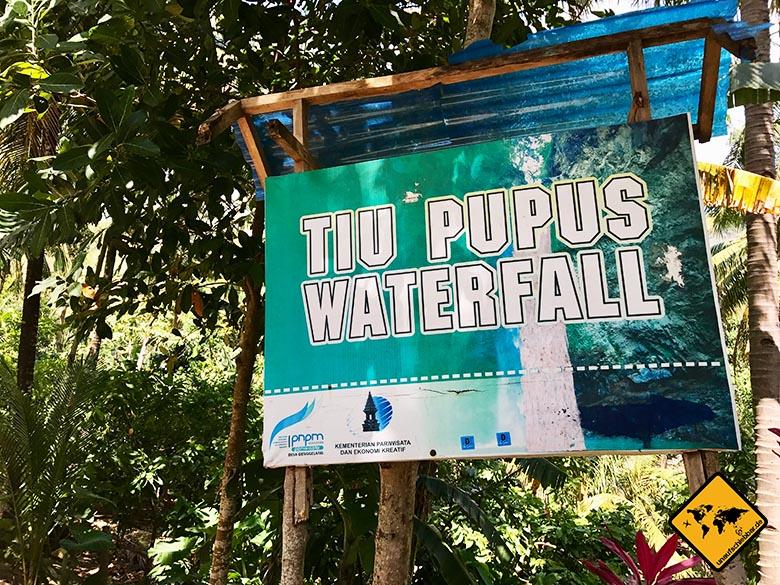 Tiu Pupus Wasserfall Lombok