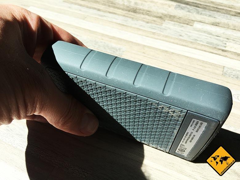 Transcend StoreJet 25h3 Test Anti Shock Festplatte Handlichkeit