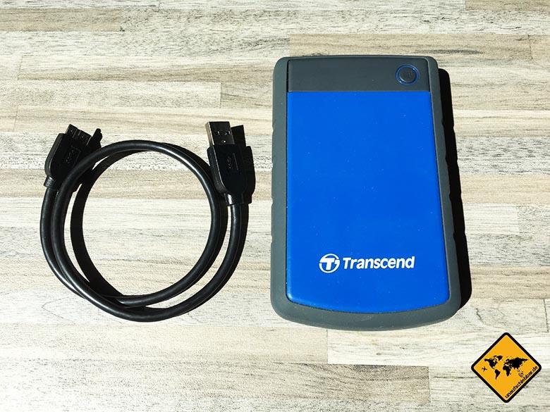 Transcend StoreJet 25h3 Test Externe Reise Festplatte alle Inhalte