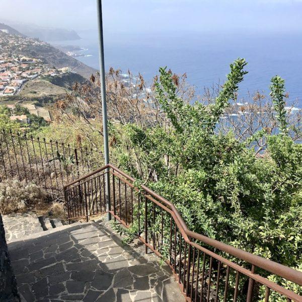 Treppe Parque Los Lavaderos El Sauzal Teneriffa