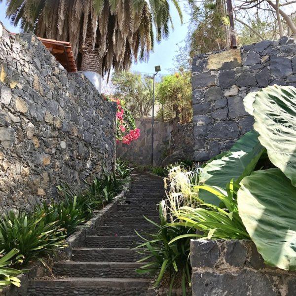 Treppe grün Parque Los Lavaderos El Sauzal