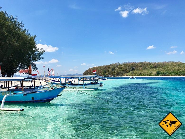 Türkis-blaues Wasser Gili Nanggu