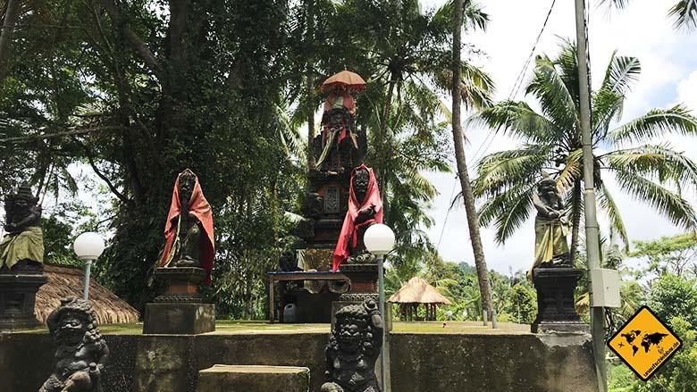 Tukad Cepung Waterfall Eingang Tempel