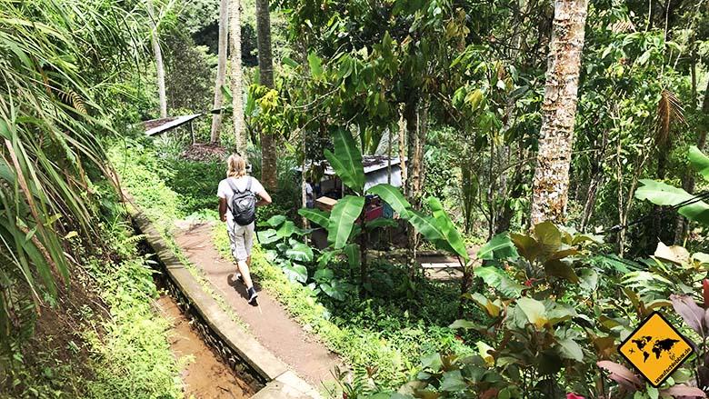 Tukad Cepung Waterfall Weg