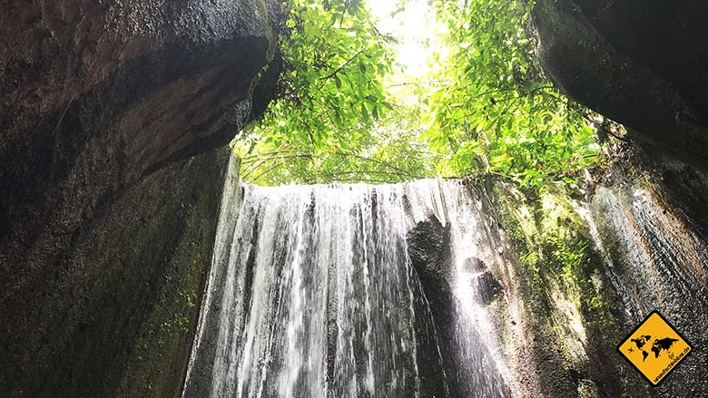 Tukad Cepung Waterfall oben offen