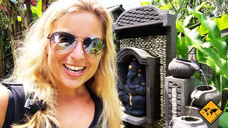 Ubud Unterkunft Empfehlung Sakha House Springbrunnen
