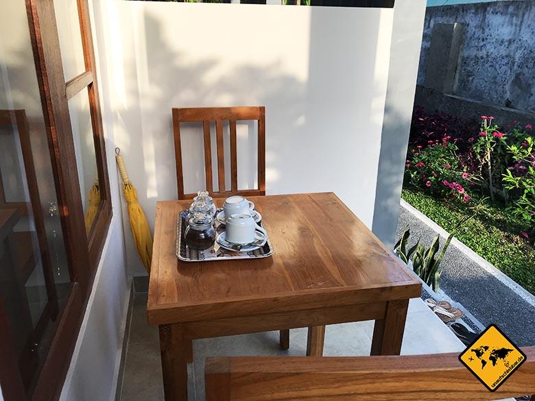 Ubud Unterkunft Empfehlung Sakha House Terrasse