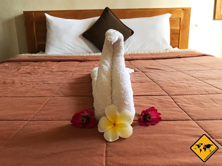 Ubud Unterkunft Tipp Sakha House Handtücher