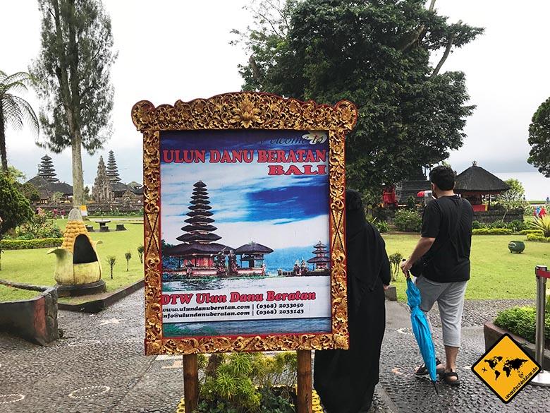 Ulun Danu Temple Eingang