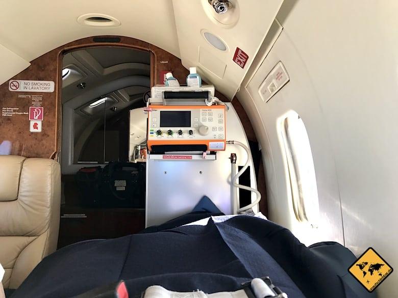 Ambulanz-Flugzeug