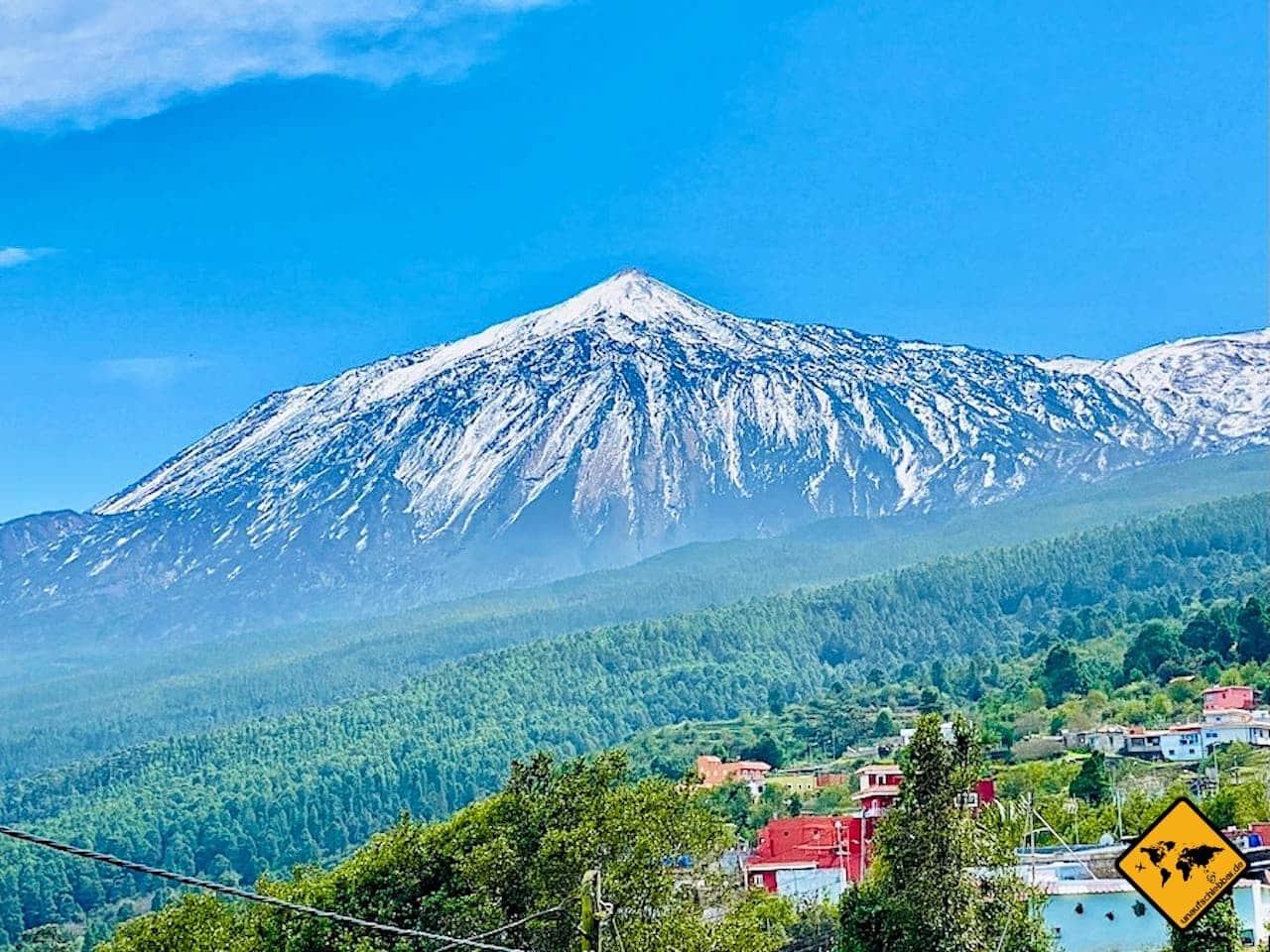 Urlaub auf Teneriffa Teide Vulkan