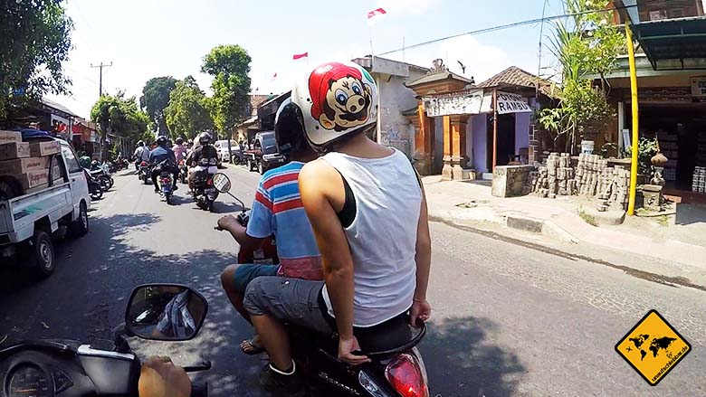Urlaub in Bali gefährlich Straßenverkehr