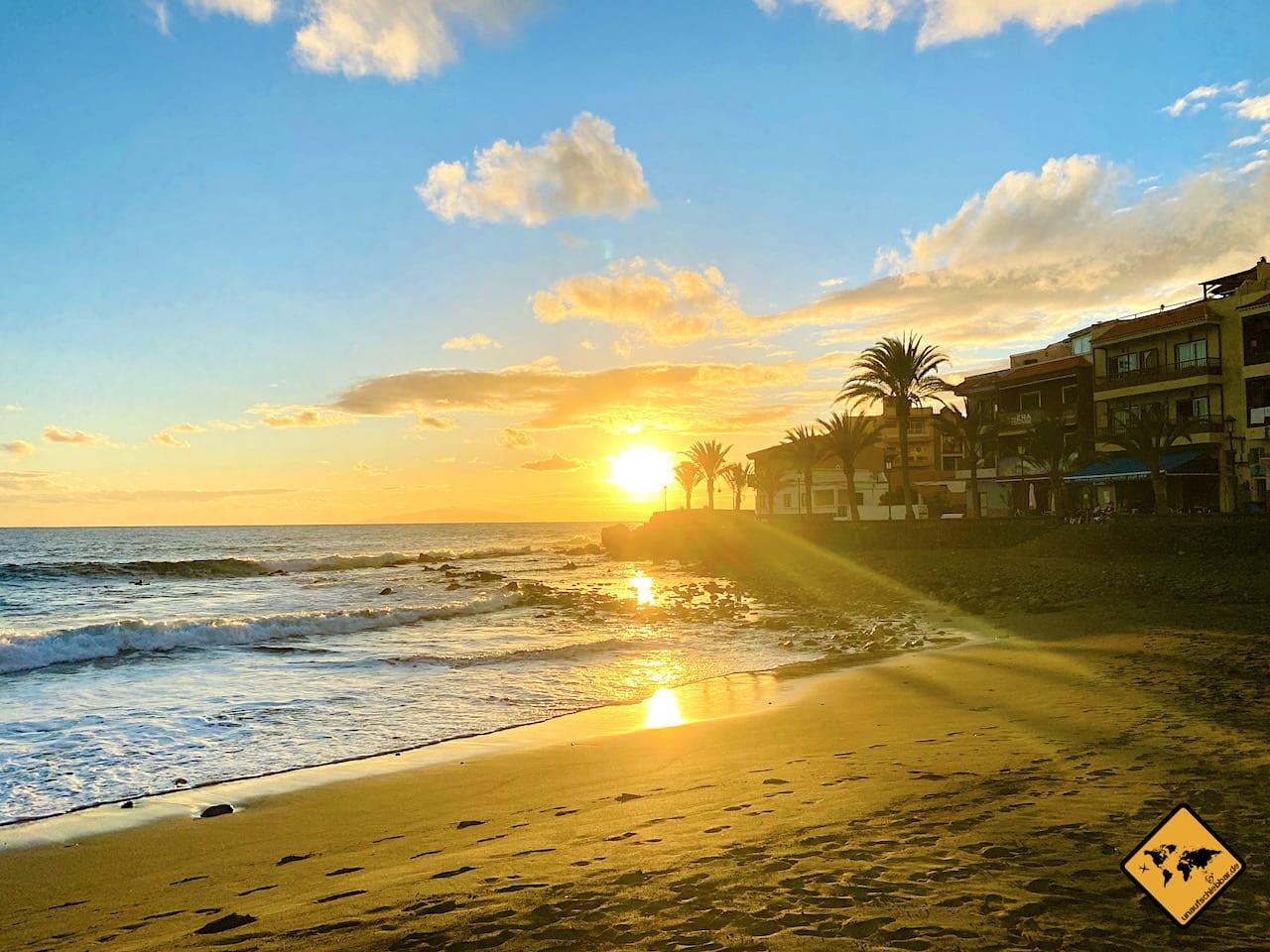Valle Gran Rey Sonnenuntergang Playa Calera