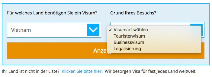 Vietnam Visum beantragen online Visabox