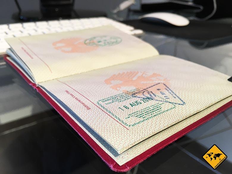 Visum Indonesien on arrival bei Einreise Ankunft am Flughafen Einreise Ausreise