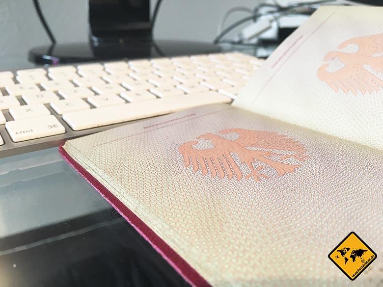 Visum Iran feie Seite Reisepass