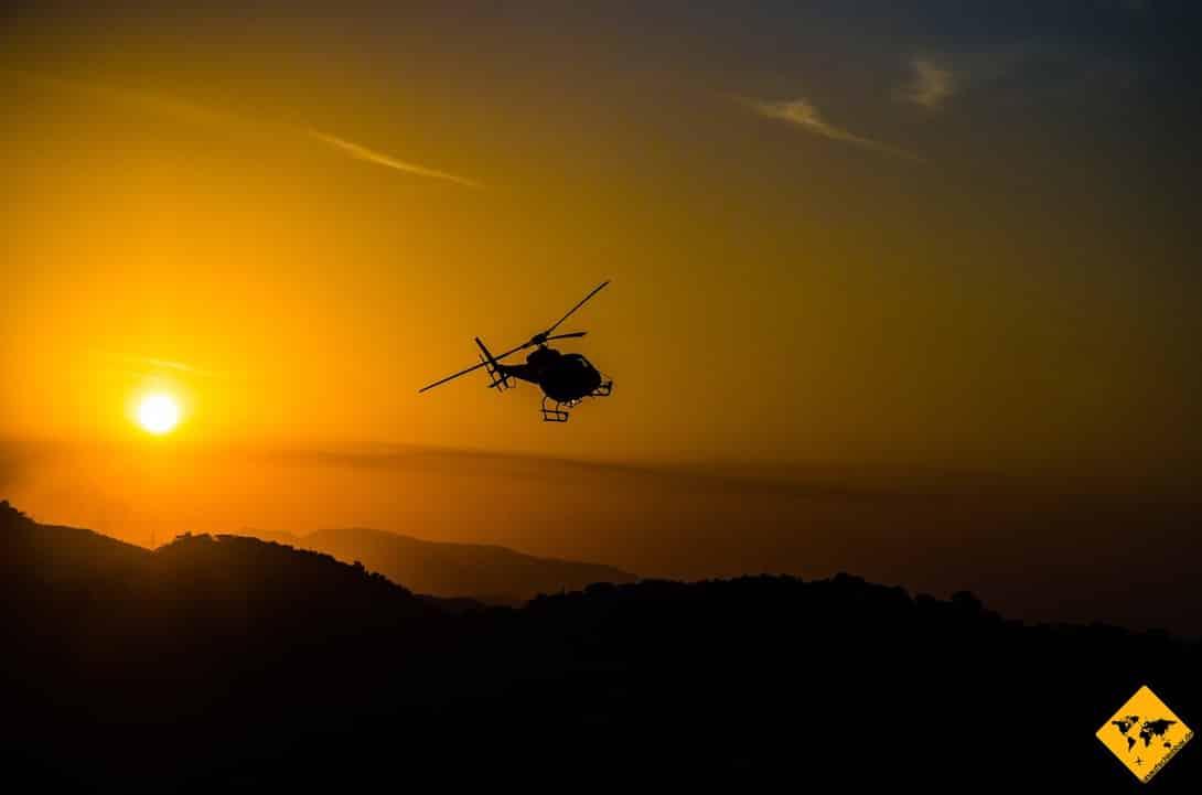 Von Bali auf die Gili Inseln: Auch mit dem Hubschrauber ist die Anreise möglich, jedoch auch teuer
