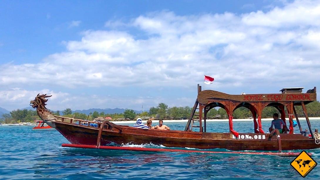 Wenn du kein öffentliches Boot nehmen möchtest, gibt es auf Lombok auch die Möglichkeit ein Privatboot auf die Gili Inseln zu mieten