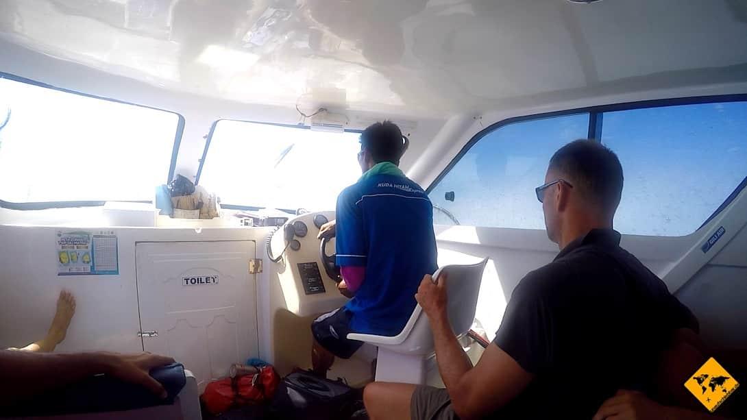 Wenn du von Bali auf die Gili Inseln reist, befinden sich in der Regel auch Toiletten an Bord