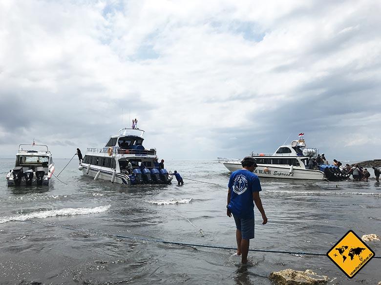 Von Bali nach Nusa Penida Schnellboot