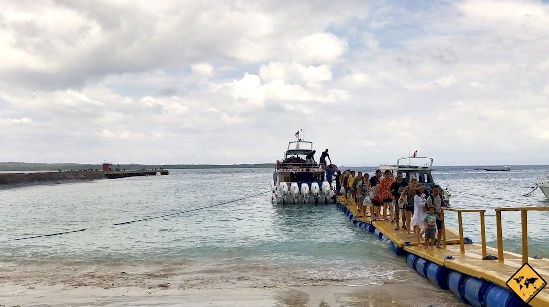 Von Nusa Lembongan nach Nusa Penida Toyapakeh Hafen