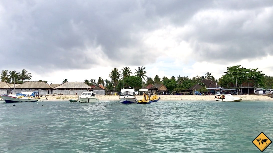 Von Nusa Penida nach Nusa Lembongan Hafen