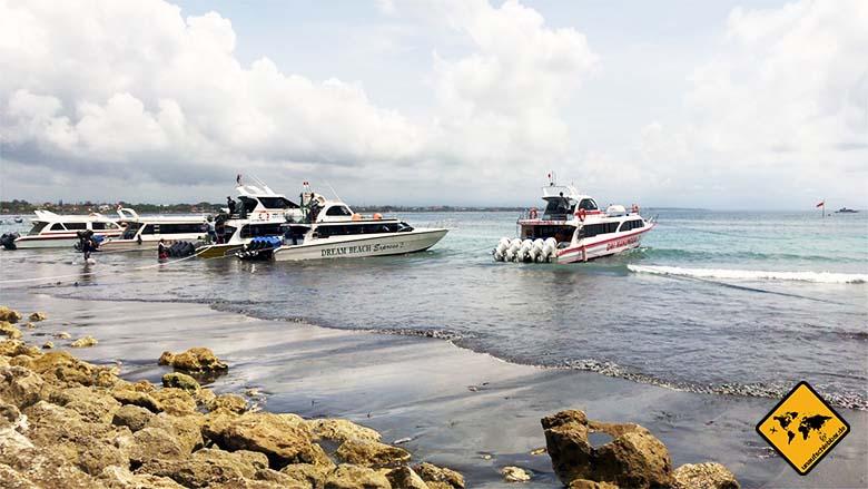 Von Sanur nach Nusa Lembongan Schnellboot