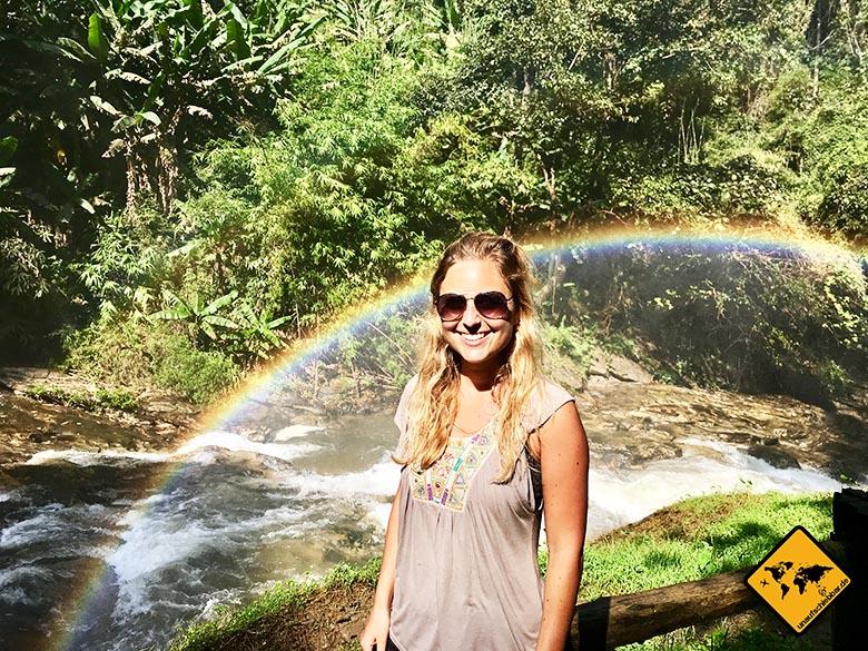 Wachirathan Waterfall Regenbogen