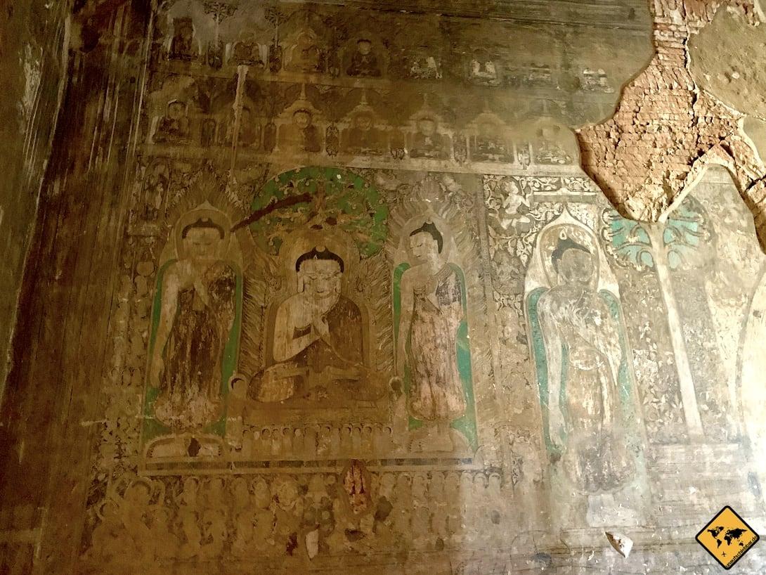 Wandbemalung Narathihapatae Hpaya Tempel Bagan