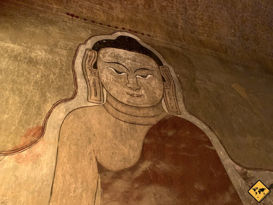 Wandbemalung Sulamani Tempel Bagan Myanmar