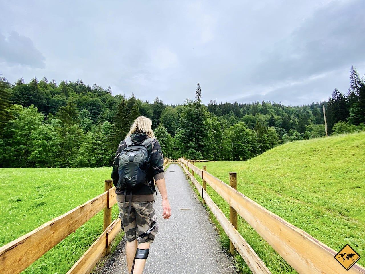 Wandern Breitachklamm Beginn