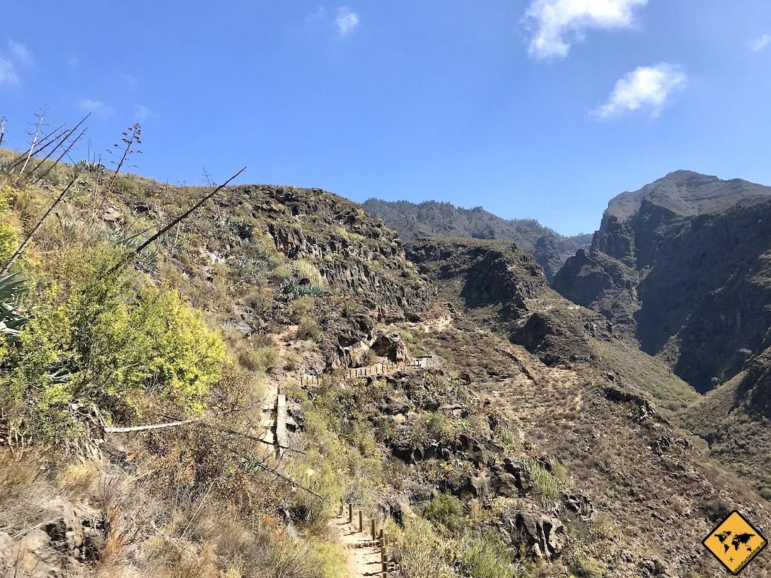 Wandern auf Teneriffa Baranco del Infierno
