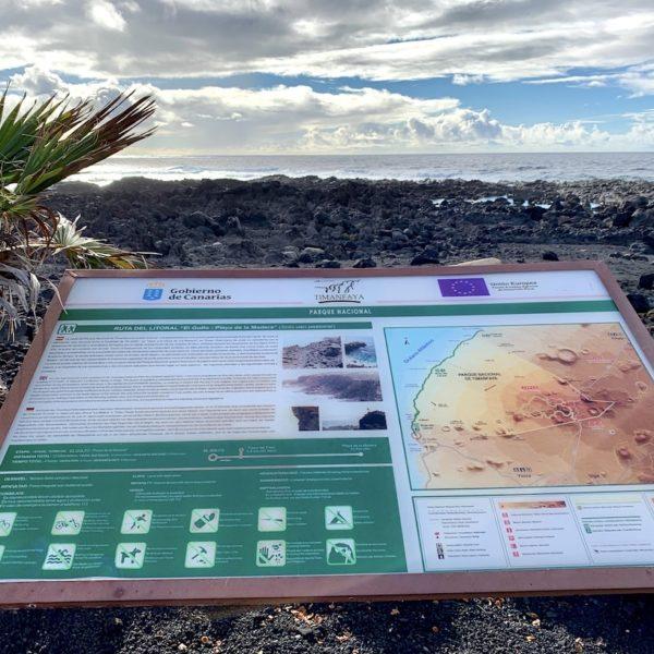 Wandertafel El Golfo Lanzarote