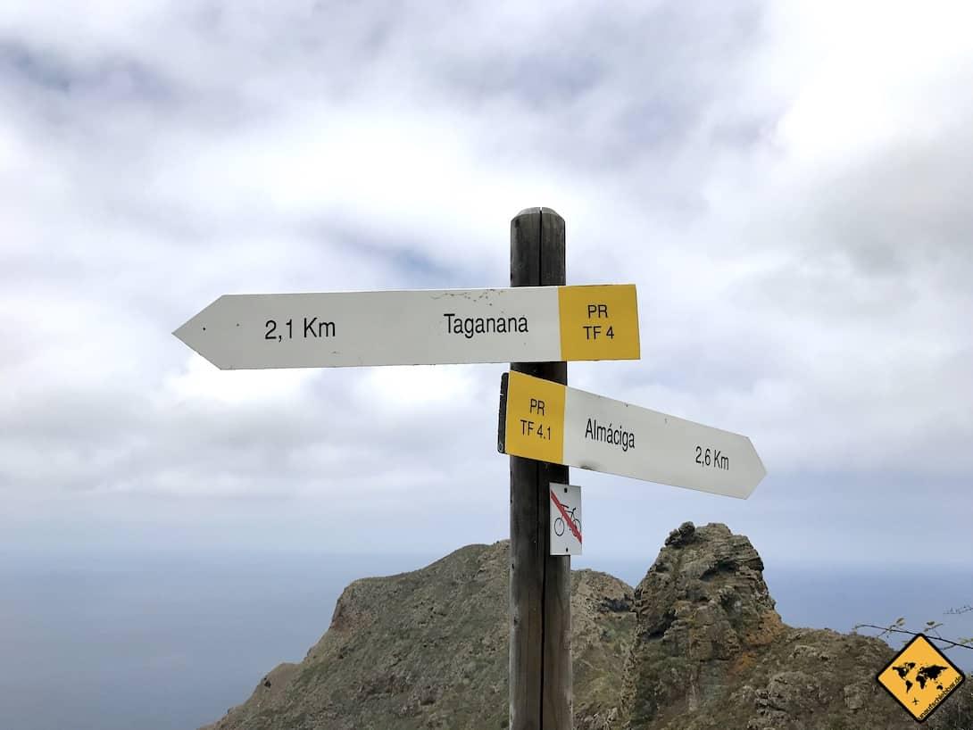 Wanderungen Anaga Gebirge Teneriffa