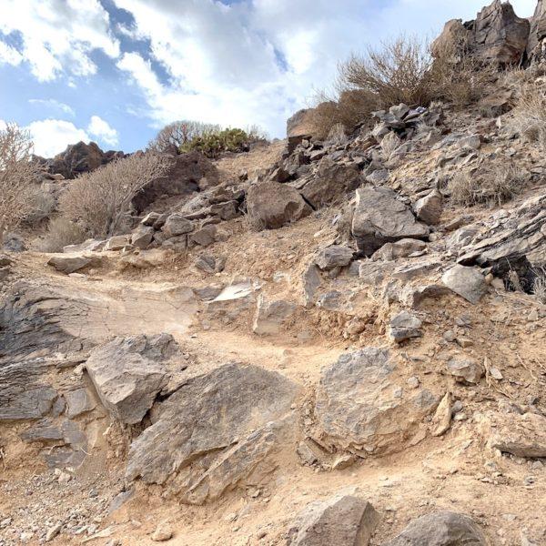 Wanderweg La Caleta de Adeje Steine
