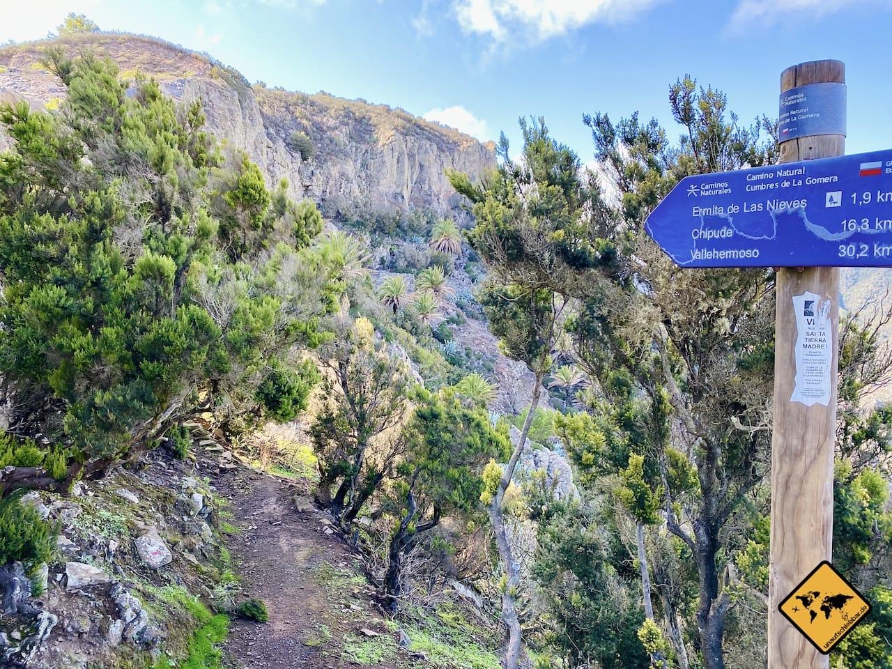Wanderweg Mirador Degollada De Peraza