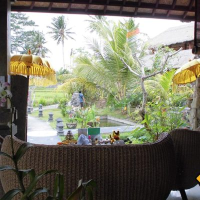 Wartebereich im Karsa Ubud Spa