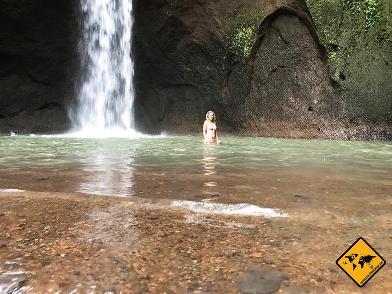 Wasserfall baden