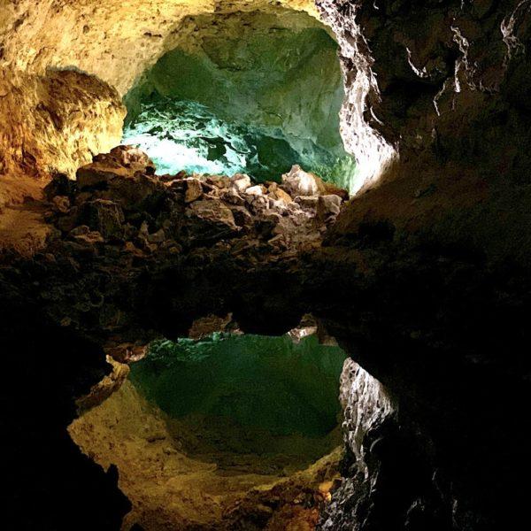 Wasserspiegelung Lavahöhle Lanzarote