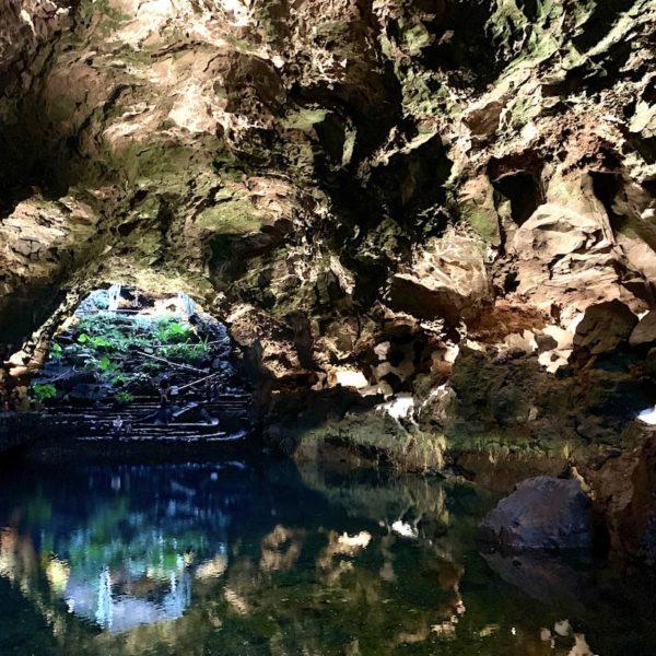 Wasserspiegelung Lavaröhre Jameos del Agua